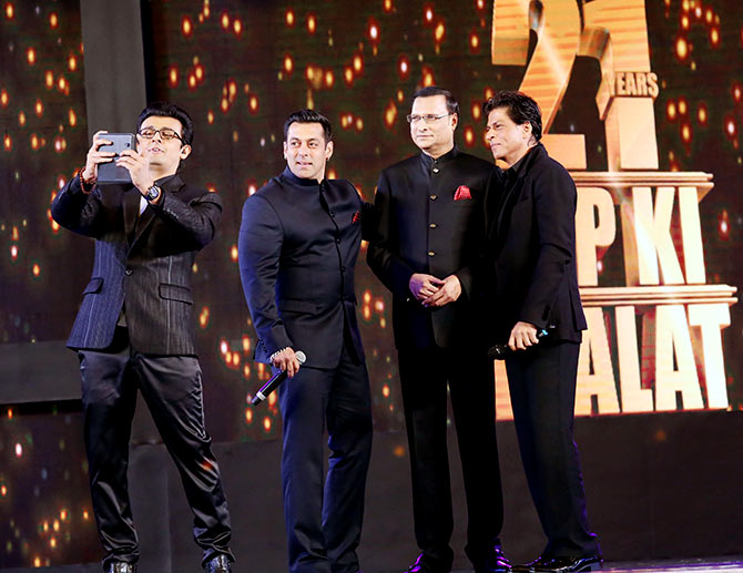 Shahrukh, Salman and Aamir photos together